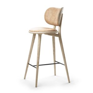 high stool barstol med ryglæn H69 fra mater i natur