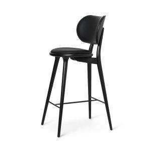 high stool barstol med ryglæn fra mater i sort