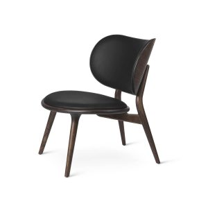 lænestol fra mater i sirkagrå lakeret og sort
