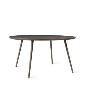 accent spisebord Ø140 fra mater i sirkagrå lakeret