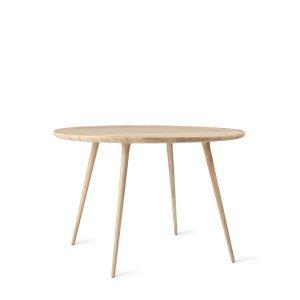 accent spisebord Ø110 fra mater i mat hvidlakeret