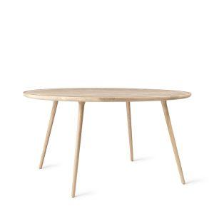 accent spisebord Ø140 fra mater i mat hvidlakeret