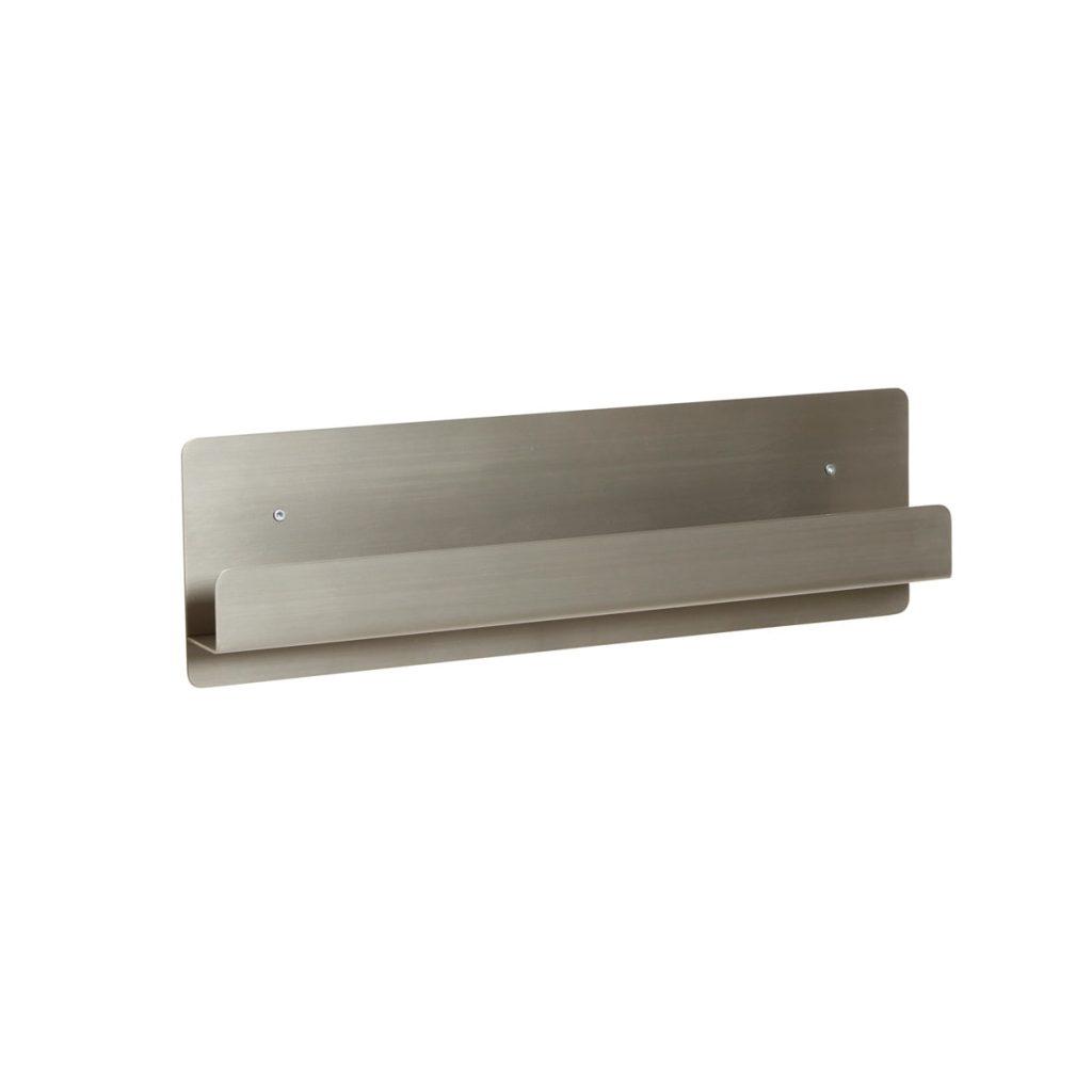 grå væghylde i metal fra hübsch
