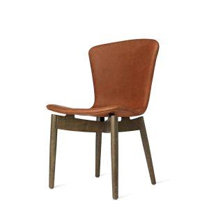shell spisebordsstol fra mater i sirka grå lakeret og dunes rust