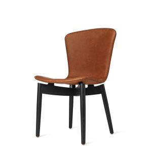 shell spisebordsstol fra mater i sort lakering og dunes rust