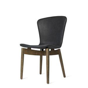 shell spisebordsstol fra mater i mat sirka grå lakering og antracit sort