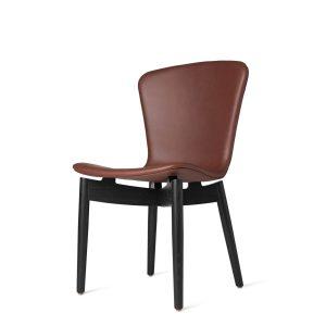 spisebordsstol fra mater i sort og ultra cognac