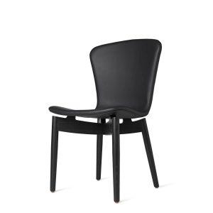 shell spisebordsstol fra mater i sort lakering med sort sæde