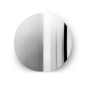 imago spejl rundt i rustfrit stål fra mater