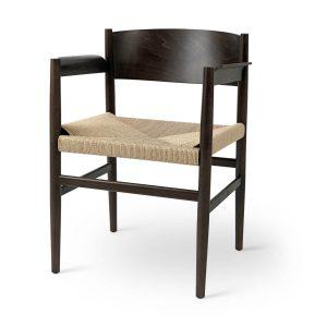 nestor spisebordsstol med armlæn fra mater i sirka grå