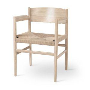 nestor spisebordsstol med armlæn fra mater i natur