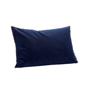 pyntepude med fyld i blå velour