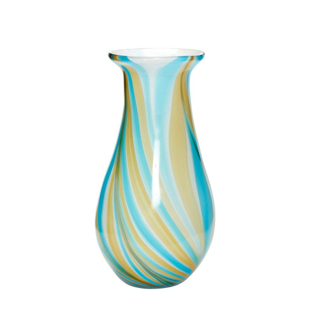 glasvase i blå multi coloured fra hübsch