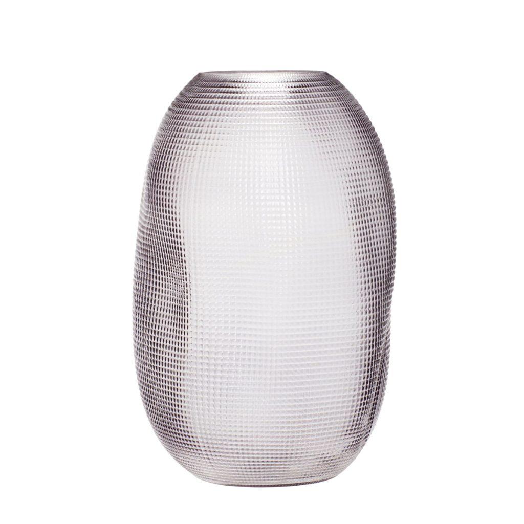 røgfarvet glasvase fra hübsch