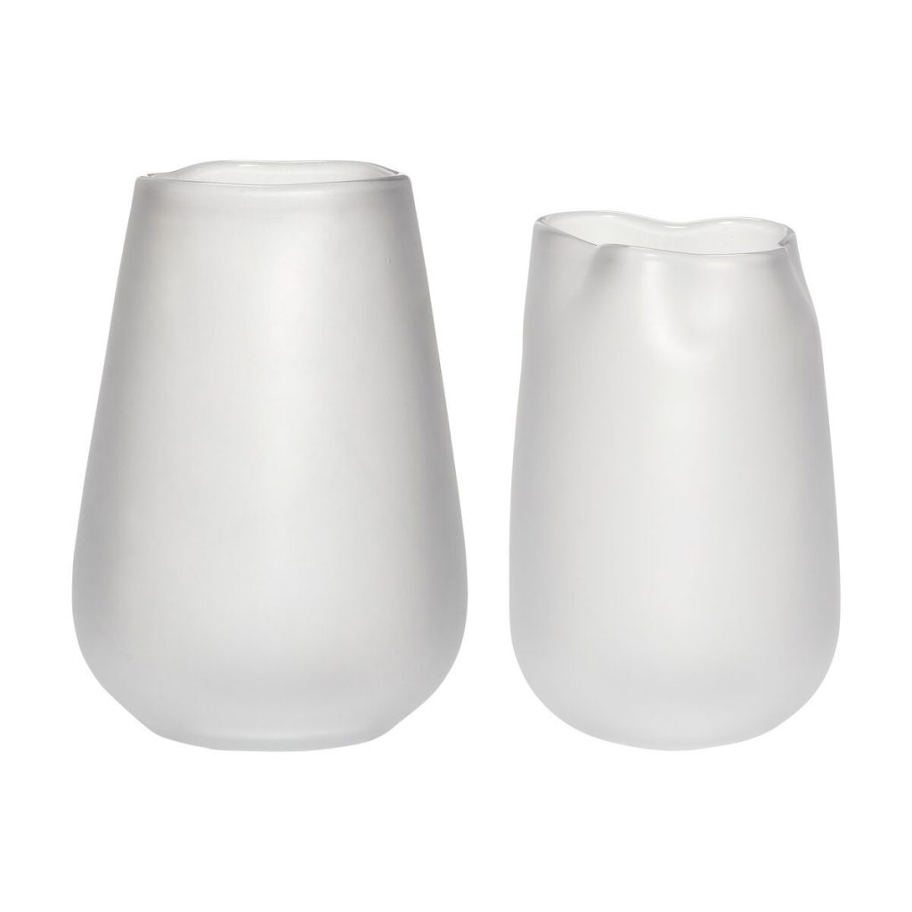 hvide glasvaser 2 stk. fra hübsch