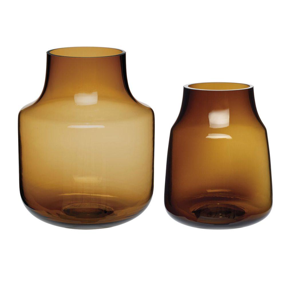 brunlige glasvaser 2 stk. fra hübsch