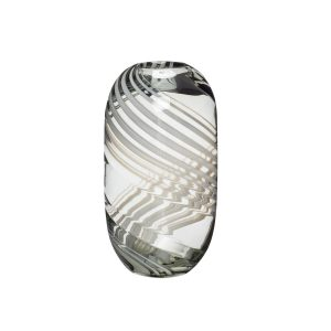 glasvase med striber fra hübsch