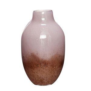 glasvase i lilla og brun fra hübsch