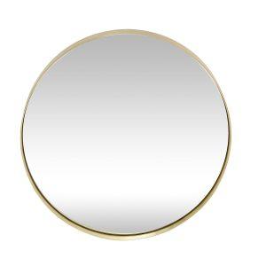 rundt vægspejl med messing ramme fra hübsch