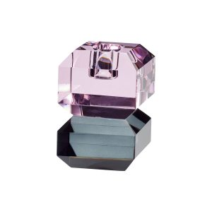 krystallysestage i pink og røgfarvet fra hübsch