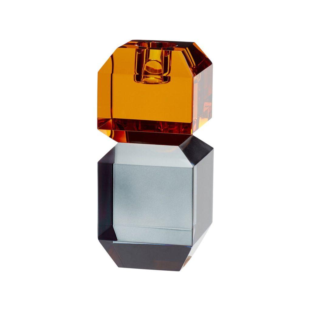 krystallysestage i ravgul og røgfarvet fra hübsch