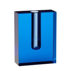 blå krystalvase fra hübsch