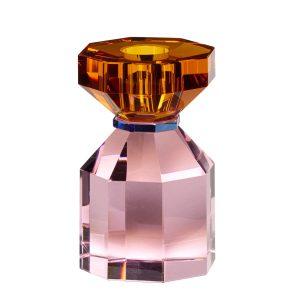 krystallysestage i pink og ravgul fra hübsch