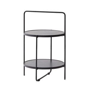 bakkebord Ø46 cm i sort stel og bakker i farven sort fra andersen furniture