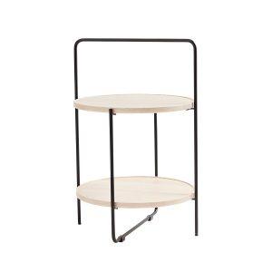 bakkebord Ø46 cm i sort stel og bakker i massivt ask fra andersen furniture
