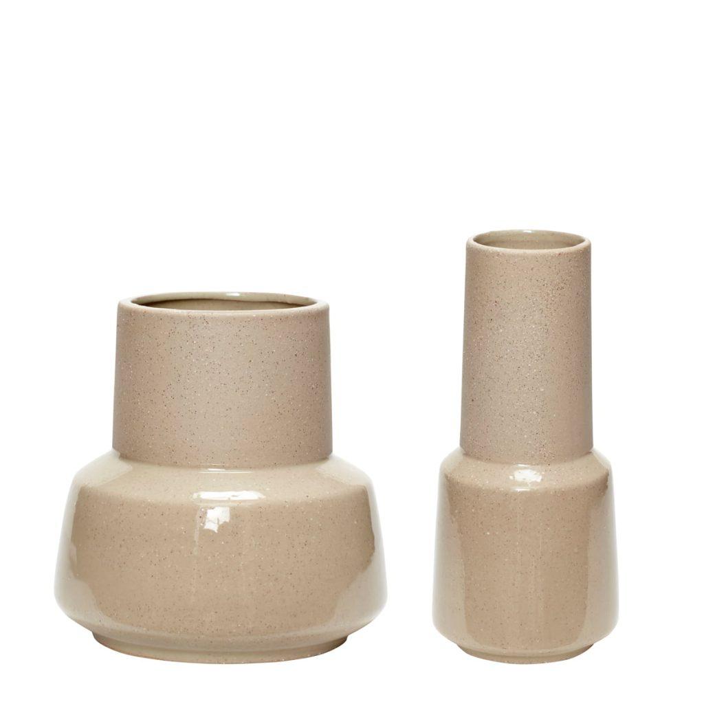 keramikvaser 2-pak fra hübsch