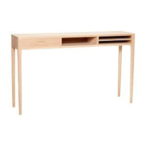 konsolbord med rum i egetræ fra hübsch