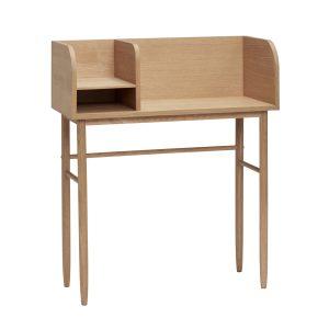 skrivebord i egetræ fra hübsch