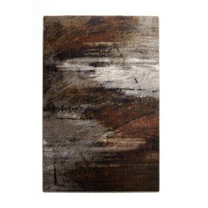 Tæppe Surface - Black/Brown/Burned pattern fra muubs