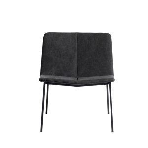 Loungestol Chamfer Anthracite - Antracit/Sort fra muubs