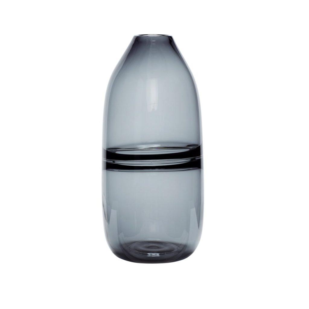 glasvase i grå fra hübsch