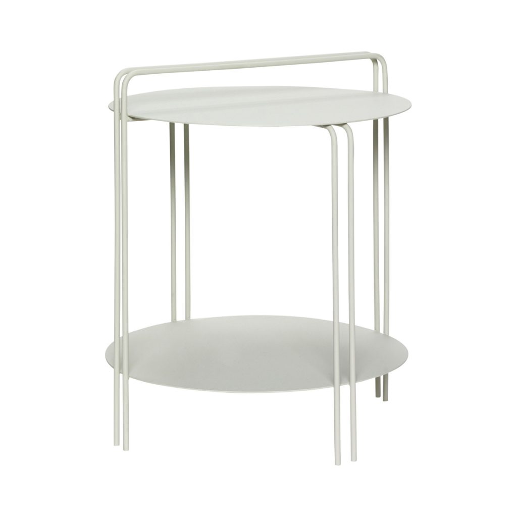 lille rundt bord i grå metal fra hübsch