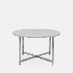 rundt jh spisebord i lysegrå marmor fra klassik studio