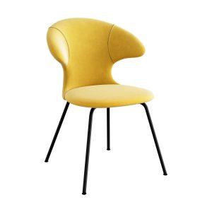 time flies spisebordsstol med sort benstel og sæde i canary yellow fra umage