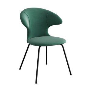 time flies spisebordsstol med sort benstel og sæde i forest green fra umage