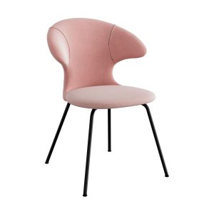 time flies spisebordsstol med sort benstel og sæde i pale rose fra umage