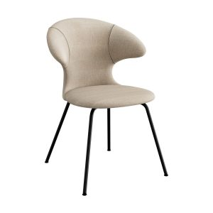 time flies spisebordsstol med sort benstel og sæde i sand fra umage