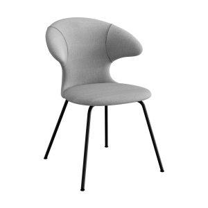 time flies spisebordsstol med sort benstel og sæde i silver grey fra umage