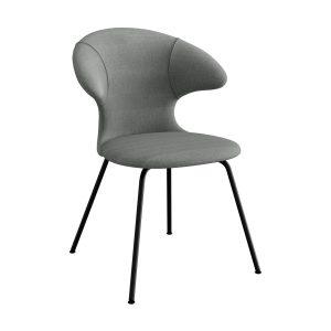 time flies spisebordsstol med sort benstel og sæde i slate grey fra umage