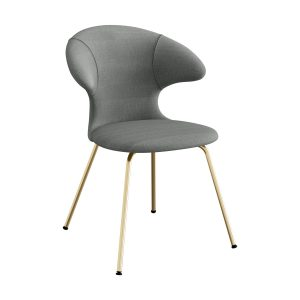 time flies spisebordsstol med benstel i messing og sæde i slate grey fra umage