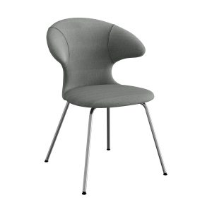 time flies spisebordsstol med benstel i krom og sæde i slate grey fra umage