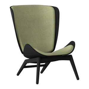 the reader lænestol i sort eg og sæde i spring green fra umage