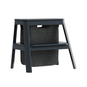 step it up taburet med opbevaringspose i anthracite grey fra umage