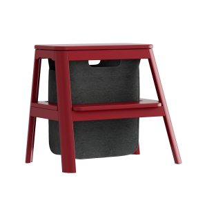 step it up taburet med opbevaringspose i ruby red fra umage