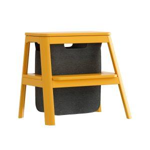 step it up taburet med opbevaringspose i saffron yellow fra umage
