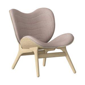 a conversation piece lænestol med lav ryg i eg og sæde i dusty rose fra umage